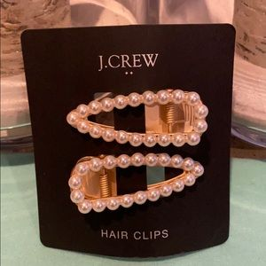 J. Crew Pearl hair clips. Set of 2.